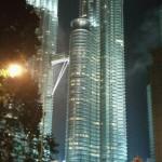KLCC at night from Jln Ampang, Kuala Lumpur