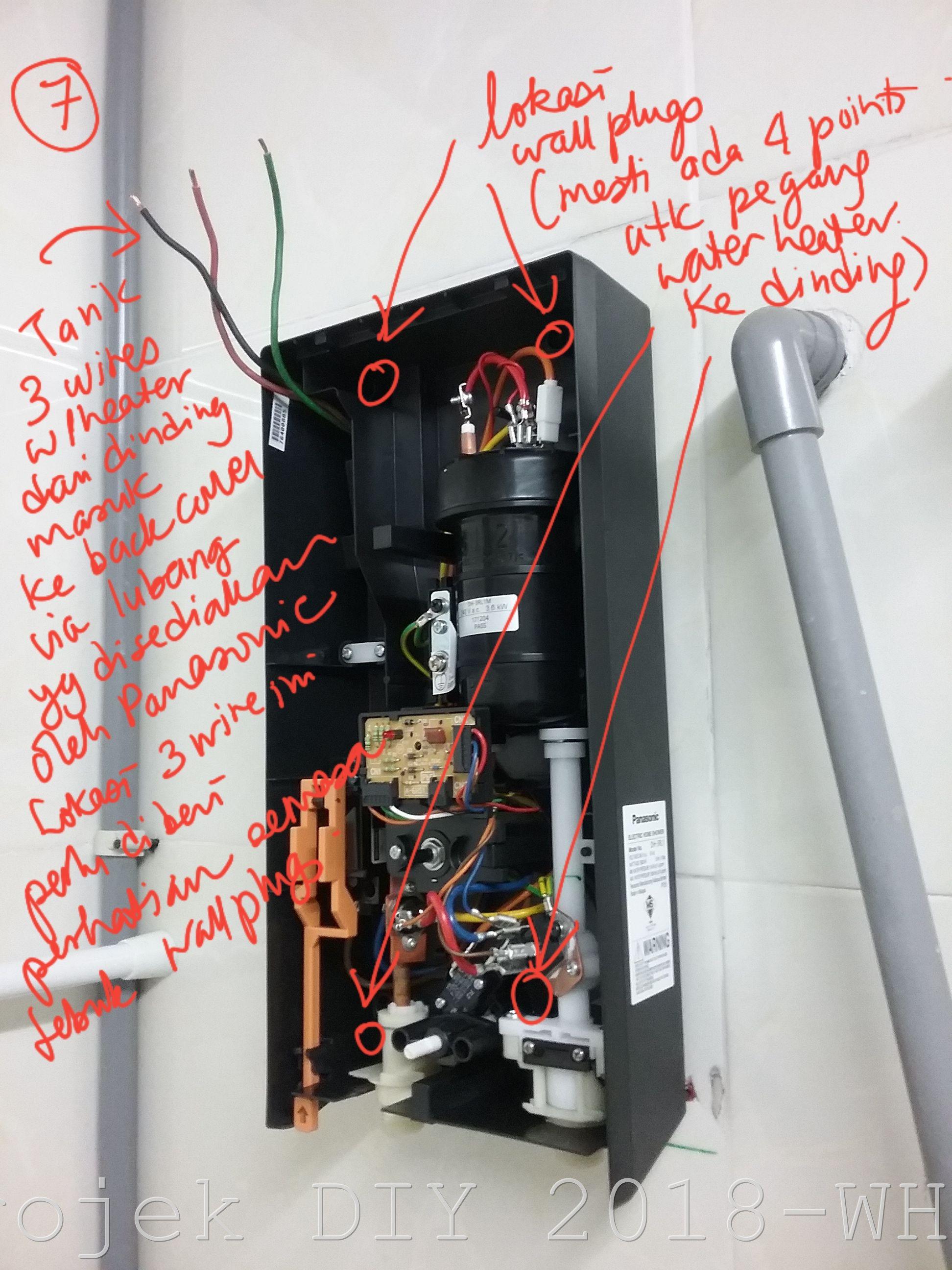 Sensational Cara Pasang Water Heater Sendiri Bumisepi Com Wiring Digital Resources Zidurslowmaporg