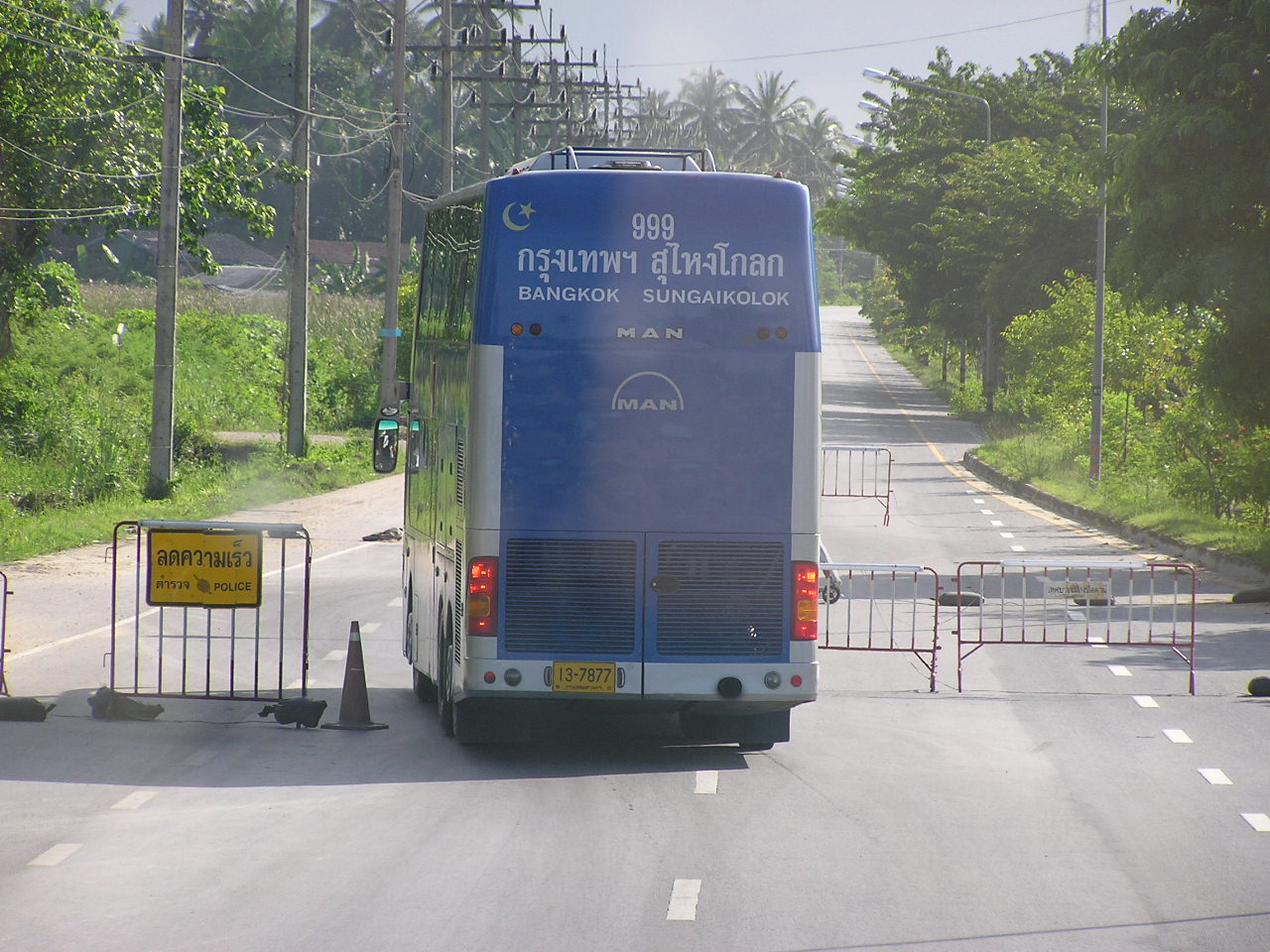 Sg Golok - Bangkok express bus travels 1100 km one way.