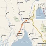 Shwekyin is located to the north of Bago (aka Pegu)