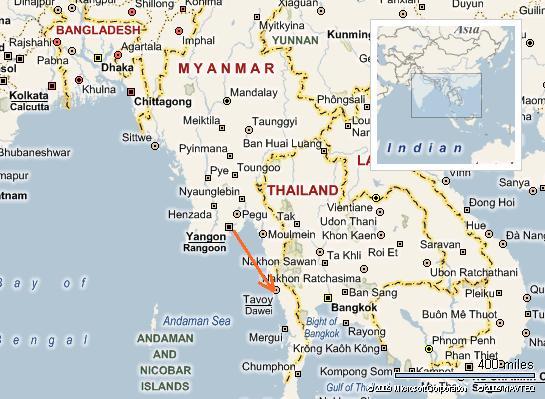 Dawei. Myanmar