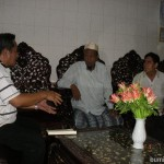 Haji Ramadullah (center) is a respectable moslem entrepreneur and figure in Shwekyin, Myanmar