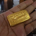 Gold mining is a good business at Shwekyin, Myanmar, besides farming. This gold block is worth of USD5000.