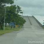 ASEAN Bridge crosses over Sungai Baram