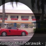 Red ferrari parked outside (Miri,  Sarawak)