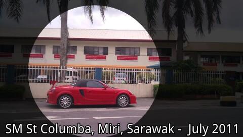 Red ferrari parked outside (Miri,  Sarawak)