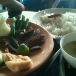 Nasi lalapan at Miri, SARAWAK