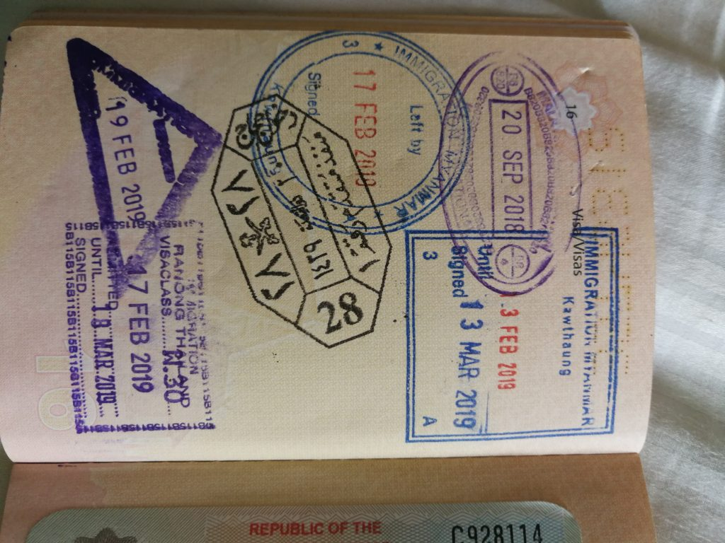 Border crossing Thailand/Myanmar at Ranong – Part 1/2: VISA REQUIREMENT